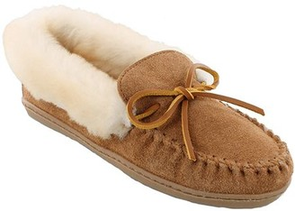 Minnetonka Leather Moccasin Slippers - Alpine