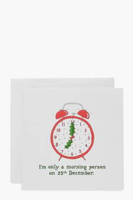 boohoo Morning Person Christmas Card