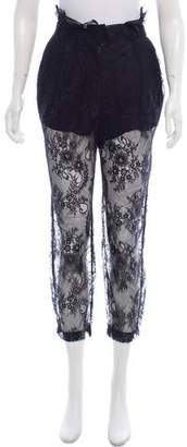 Philosophy di Alberta Ferretti Lace High-Rise Pants