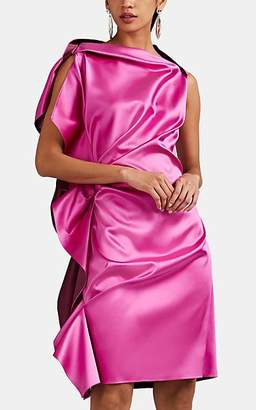 Lanvin Women's Ruffle Double-Faced Silk Cocktail Dress - Pink