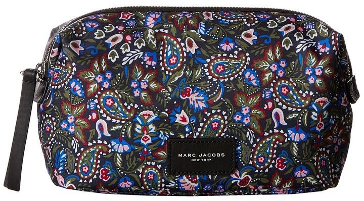 Marc JacobsMarc Jacobs - Garden Paisley Printed Biker Cosmetics Large Landscape Pouch Travel Pouch