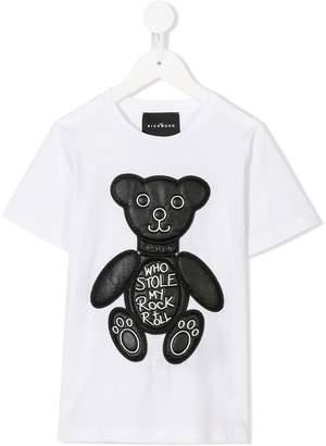John Richmond Kids bear patch T-shirt