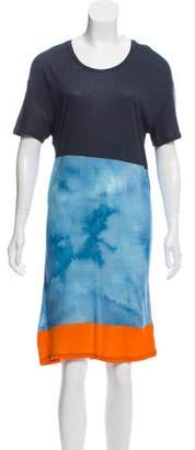 Jonathan Saunders Colorblock Short Sleeve Dress