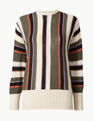 Marks and Spencer Linen Blend Striped Jumper