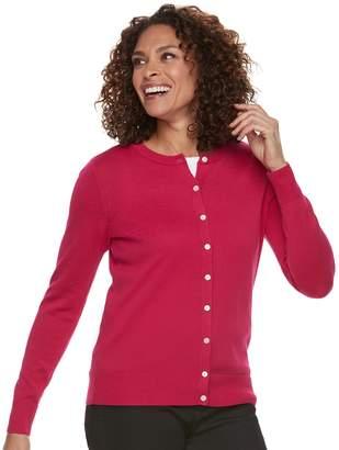 Croft & Barrow Women's Classic Cardigan Sweater