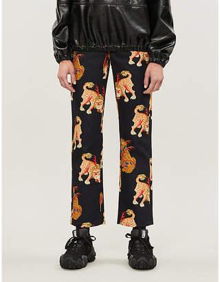Selfridges Kirin Peggy Gou Haetae-print straight high-rise jeans