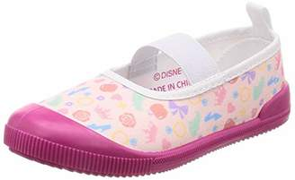 Disney (ディズニー) - [ディズニー] 上履き プリンセス 総柄 16-20cm 女の子333100823 ホワイト/ピンク 17 cm 2E