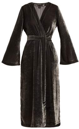 Once Milano - Bell Sleeve Velvet Robe - Womens - Grey