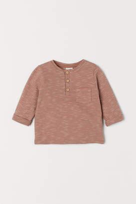 H&M Slub jersey Henley shirt