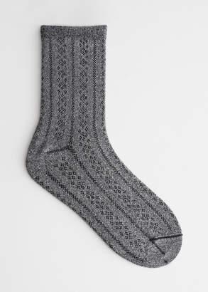 Micro Eyelet Glitter Socks