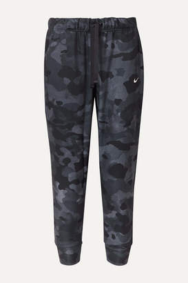 Nike Rebel Camouflage-print Dri-fit Jersey Track Pants - Black