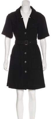 Chanel Tweed Belted Dress