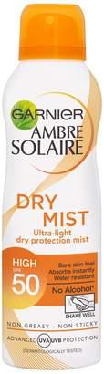 Ambre Solaire Garnier Dry Mist Sun Cream Spray SPF 50 200ml