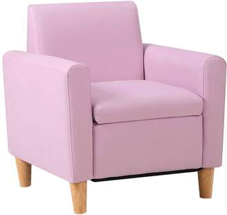 Big Fun Club Senn Kids' PU Leather Armchair, Pink