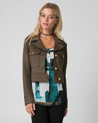 Le Château Suede-Like Notch Collar Jacket