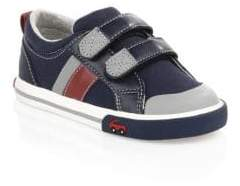 See Kai Run Kid's Russel Tri-Tone Sneakers - Navy Red - Size 4 (Baby)