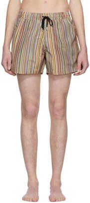 Paul Smith Multicolor Artist Stripe Swim Shorts