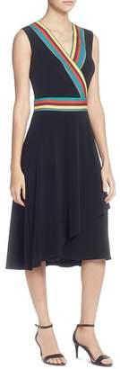Catherine Malandrino Marzi Stripe-Trim Dress