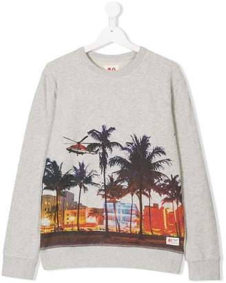 American Outfitters Kids City print sweatshirt