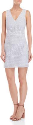 French Connection Schiffley Summer Eyelet Lace Sheath Dress