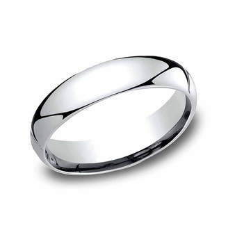 MODERN BRIDE Mens 5 Mm Platinum Wedding Band