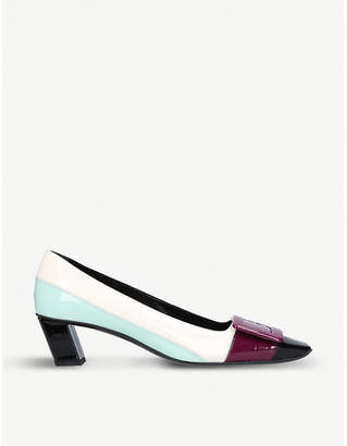 Roger Vivier Dec Belle mondrian patent-leather courts