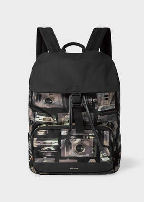 Paul Smith Men's Camouflage 'Paul's Camera' Print Flap Backpack