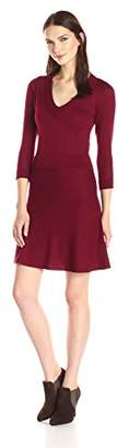 Design History Women's Ottoman and Flare Skirt Sweater Dress $54.39 thestylecure.com