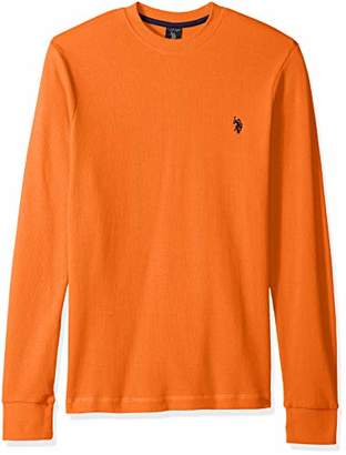 U.S. Polo Assn. Men's Long Sleeve Crew Neck Solid Thermal Shirt