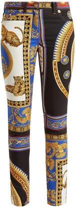 Versace Lovers baroque-printed skinny jeans