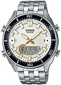 Casio Casio Men's Silver Analog-Digital Watch