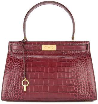 Tory Burch Lee Radziwill embossed satchel