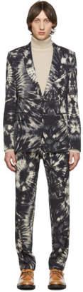 Dries Van Noten Black Tie-Dye Kayne Suit