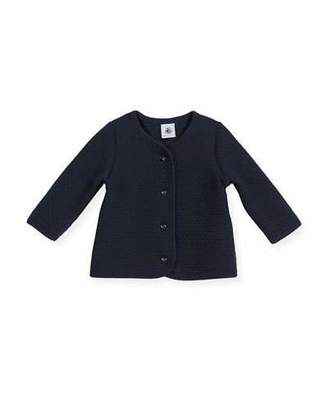 Petit Bateau Cotton-Blend Knit Cardigan, Size 3-36 Months