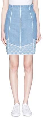 J Brand 'Tidepool' polka dot panel denim pencil skirt