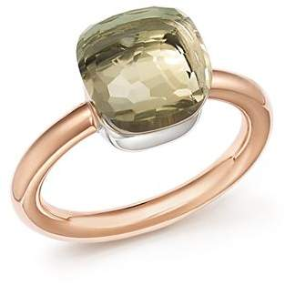 Pomellato Nudo Classic Ring with Prasiolite in 18K Rose and White Gold