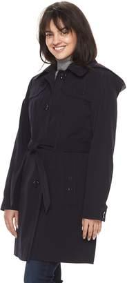 Gallery Women's Hooded Trench Coat