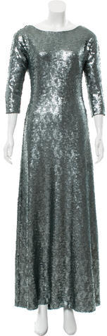Marc JacobsMarc Jacobs Sequined Mesh-Accented Gown