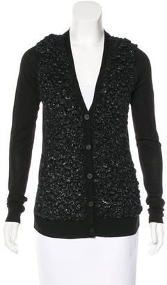 Vera Wang Textured Wool Cardigan w/ Tags $225 thestylecure.com