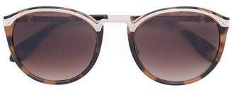 Carolina Herrera tortoise shell round sunglasses
