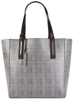 Vince Camuto Fran Plaid Leather Tote