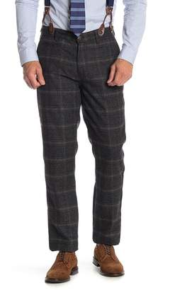 Jachs Plaid Pants with Suspenders