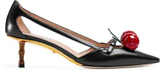 Gucci Leather cherry pump