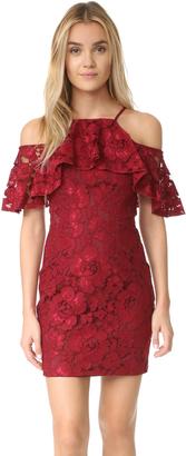 Black Halo Judd Lace Mini Dress $390 thestylecure.com