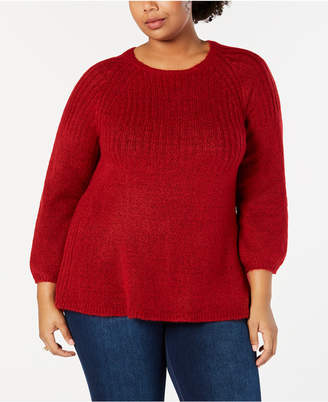 Style&Co. Style & Co Plus Size Bishop-Sleeve Tunic Sweater