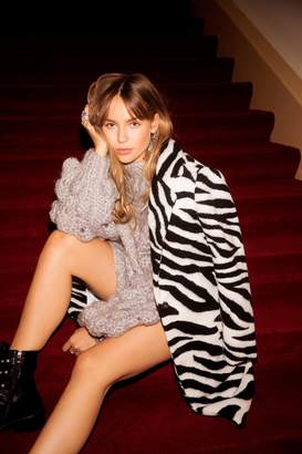 Nasty Gal Just Like Magic Faux Fur Zebra Coat