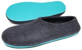 """Organic Wool Slippers """"Aqua Jazz"""""""