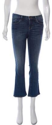 J Brand Mid-Rise Selena Boot-Cut Jeans