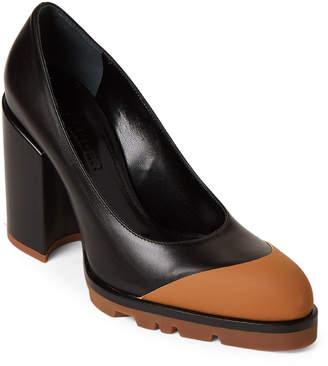 cf1e930599f Jil Sander Black   Tan Leather Block Heel Pumps