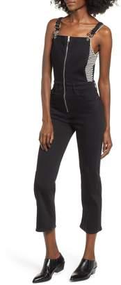 Hudson Jeans Avalon Zip Front Crop Overalls